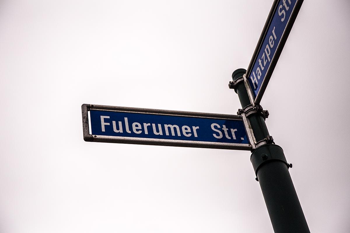Schild Fulerumer Straße