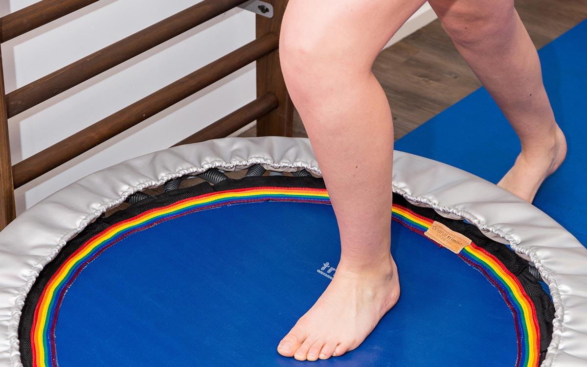 Fußstabilisation auf dem Trampolin
