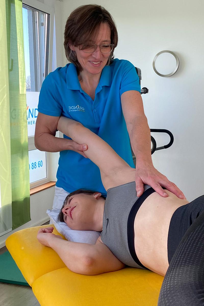 Reflektorische Atemtherapie bei Physiotherapie Grande